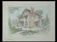 VILLA AU PERREUX, CORBREUSE - 1905 - PLANCHES ARCHITECTURE - BAHRMANN