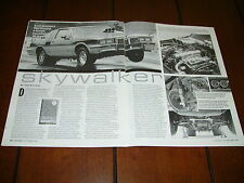 1986 PONTIAC GRAND PRIX SUPERCHARGED 9 SEC. 1/4  ***ORIGINAL 1993 ARTICLE***