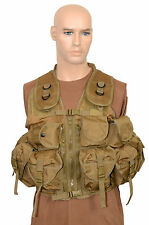 9 POCKET Coyote Tactical Assault VEST Khaki Rig Army Military Ammo Utility Pouch
