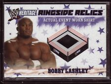 BOBBY LASHLEY 2007 Topps Heritage EVENT WORN SHIRT WWE TNA MMA UFC ROH Wrestling