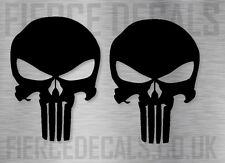 2 Punisher Skull Logo Comic Auto Laptop Geek pegatina Gráfico calcomanía Base Troquelada 8 Cm