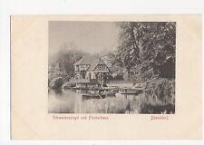 Germany, Dusseldorf, Schwanenspiegel und Fischerhaus Postcard, A576