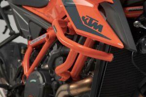 SW-Motech oranger Sturzbügel passend für KTM 1290 Super Duke R rubuster Stahl
