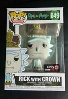 """Funko POP! Animation #649 Rick and Morty """"Rick with Crown"""" Gamestop Exclusive"""