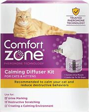 Comfort Zone Feliway Calming Diffuser and Refill for Cat calming Reduces Stress
