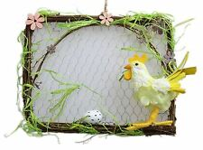 Colgante Gallina y huevos de gallina huevo de Pascua Decoración de placa de pared