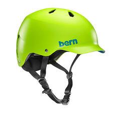 Bern Men's Watts Bike Thin Shell EPS Matte Neon Green Helmet Vm5emng Large XL