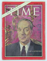 "Time Magazine Rothschild cover Dec 20, 1963 ""The Rothschilds Today"" edition"