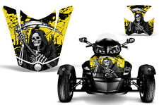 Can Am BRP RS Spyder Roadster Hood & Fender Graphic Kit Decal Wrap REAP YELLOW