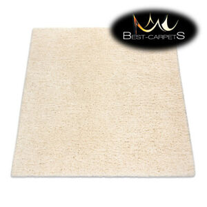 Amazing Modern Rug SUPREME Shaggy 5cm, square, single-colour, CREAM Best Quality