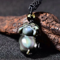 Bead Chain Natural ice rainbow obsidian eye carving bottle pendant