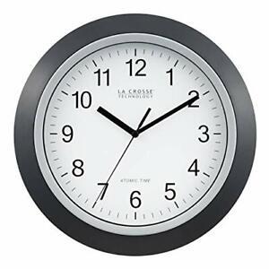 La Crosse Technology WT-3129B 12 Inch Atomic Analog Wall Clock Black