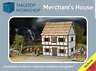 28mm Medieval Merchants House- Tabletop Workshop- NEW - Highly Detailed - 1/56