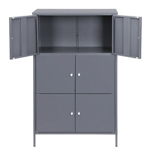 SONGMICS Aktenschrank Büroschrank Metallschrank Stahlschrank Bücherregal OMC06GB