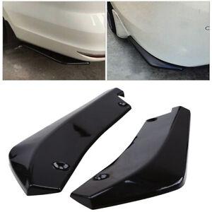 Glossy Black Car Rear Bumper Lip Diffuser Splitter Canard Protector Universal