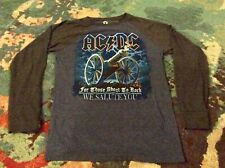 """AC/DC """"For Those About To Rock"""" SMALL Longsleeve SHIRT Liquid Blue ROCK Metal"""