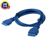 USB 3.0 Motherboard 20 Pin Female to 20 Pin Female Extension Cable, Length: 50cm