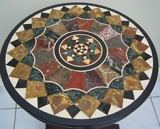 """42"""" Black Marble Dining Table Top Marquetry Coffee Large High Quality Home Decor"""
