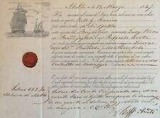 PATENTE DI SANITA. MALTA 19 marzo 1847