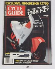 CYCLE GUIDE Rare Motorcycle MAGAZINE June 1986 Yamaha FZ? Frog 750 Issue Cover