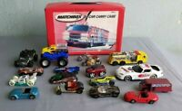 VINTAGE  MATCHBOX CARRY CASE WITH 17 CARS-C26