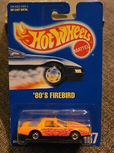 Hot Wheels '80's Firebird Orange Blue Card #167.