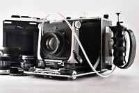 【N MINT】Linhof Master Technika 45 RF APO symmar 180mm F5.6 etc From JAPAN 220Y