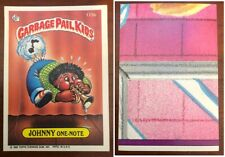 1986 TOPPS GARBAGE PAIL KIDS # 175b JOHNNY ONE-NOTE variation back