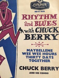 Chuck Berry,R&B with Chuck,EP,Tri Centre,Gold Lettering,EX/VG,London,Rock n Roll