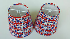 2 x 5 inch  UNION JACK FABRIC Candle shades.