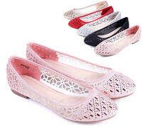 Pink nn New Cute Slip-On Rhinestone Kids Flats Girls Youth Dress Shoes Size 9