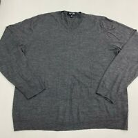 Apt.9 Sweater Mens XXL Gray V-Neck Wool Blend Long Sleeve Casual Pullover