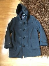 Mens Grey Gloverall Wool Blend Classic Duffle Coat Size UK 44.