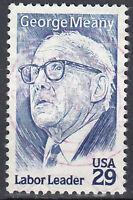 USA Briefmarke gestempelt 29c George Meany Labor Leader Rundstempel / 1091