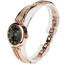 Fashion Women Ladies Dress Watch Quartz Analog Rhinestone Bracelet Wrist Watch