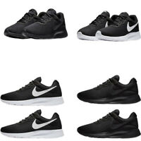 Nike Mens Trainers Tanjun Sports Low Top Gym Running Casual Shoes Black White