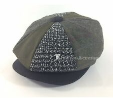 Men's Cabbie Newsboy Applejack Paperboy Multi Color Patch Work Snapbill Ivy Hat