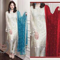 Pakistani shalwar kameez Maria b Chiffon wedding Dress Designer Suit Eid Style
