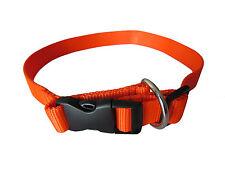 Tourbon Hunting Pet Rope Dog Collars Neck Strap Puppy Quick Locked Nylon Orange