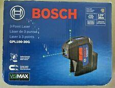 Bosch Gpl100 30g 125 3 Pt Cordless Green Beam Self Leveling Laser New Free Ship
