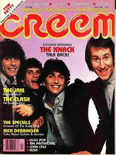 Creem Music Magazine April 1980 The Knack Rick Derringer John Cale Rush