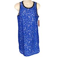GB Gianni Bini Tank Sheath Dress Women Size S Blue White Sleeveless NEW