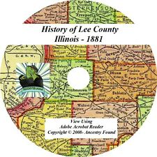 1881 History & Genealogy LEE County Illinois IL