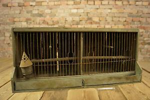 20er Bauhaus Bird Cage Vintage Vogelbauer Cage Shabby Bird Old & Antique 4