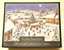 A Box Of 24 (2 Designs) Luxury Christmas Cards With Envelopes