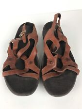 cd231d46a8e8 Merrell Womens 9 Agave Autumn Tan Leather Strappy Slingback Ankle Strap  Sandals