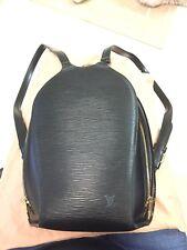Authentic Louis Vuitton Black Epi Leather Mabillon Backpack