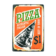 Italian Pizza Vintage Tin Metal Signs Pizza Shop Decor Art Wall Poster