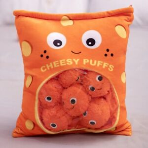 9pcs Bag of Cheesy Puffs toy stuffed Soft Snack Pillow plush puff toy kids toy