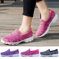 Womens Slip On Breathable Walking Loafers Shoes Comfort Fitness Casual Sneakers